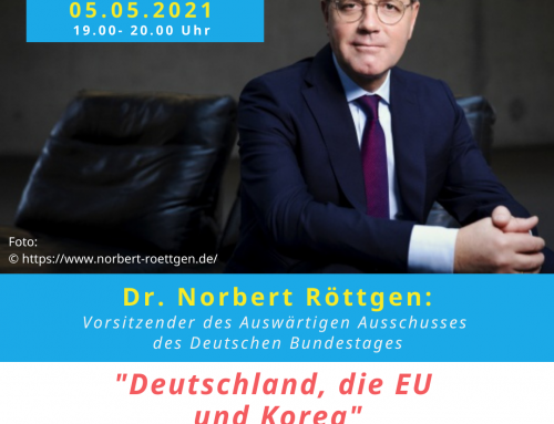 Dr. Norbert Röttgen am 05.05. zu Gast bei Forum und Netzwerk