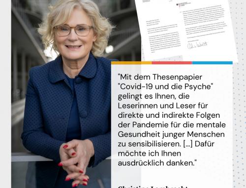 """Bundesministerin Lambrecht dankt dem Netzwerk Junge Generation DeKr für das Thesenpapier zum Thema """"Covid-19 und die Psyche"""""""
